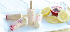 superfood banana and lemon popsibles for toddles