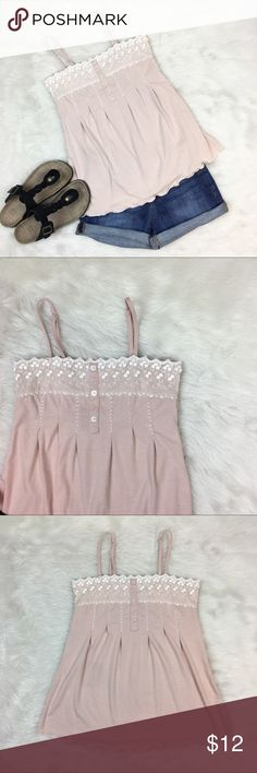 Racheal & Chloe Blush Tank Top Racheal & Chloe blush colored tank top. Size small. Approximate measurements are 24' long & 32' bust. EUC with not stains. Has adjustable straps. Beautiful top great for music festivals or just a chic summer look. ❌No trades ❌ Modeling ❌No PayPal or off Posh transactions ❤️ I 💕Bundles ❤️Reasonable Offers PLEASE ❤️ Bundle & SAVE❗️❗️ Rachael & Chloe Tops Tank Tops