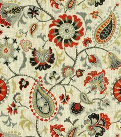 Home Decor Print Fabric- Waverly Siren Song Graphite