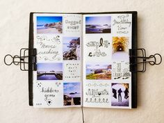 I love Pepper and Twine's Midori Traveler's Notebook!  Colorful photos + an array of calligraphy = one exquisite, inviting, and eye- catching notebook!
