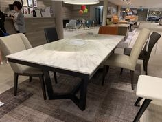 Marble top table by Nick Scali