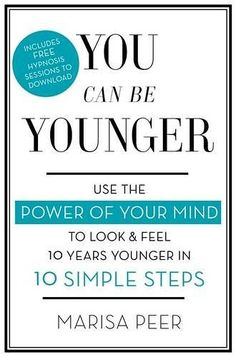 """I'm excited to announce my 5th book """"You Can Be Younger"""". I've always been interested in anti-ageing research and helping clients reverse the ageing process."""