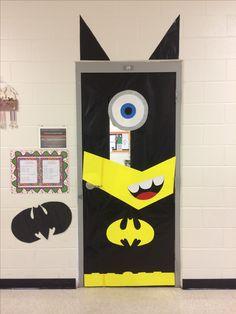 Batman superhero minion door decoration