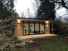 Bespoke garden gym in Scotland Garden Gym Ideas, Garden Office Shed, Garden Guide, Dream Home Gym, Gym Room At Home, Outdoor Garden Rooms, Outdoor Gym, Backyard Office, Backyard Studio