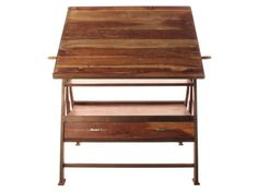 Draftsman's Industrial Loft Wood Iron Desk Table - traditional - desks - Kathy Kuo Home Industrial Bookshelf, Industrial Cafe, Industrial Bathroom, Industrial Living, Industrial Interiors, Industrial Furniture, Industrial Style, Industrial Closet, Industrial Windows