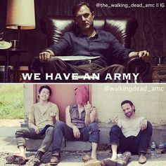 Glen, Daryl and Rick are not impressed