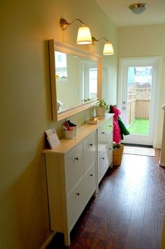 Narrow hallway solutions - Shoe cabinets from Ikea. by celilo247