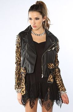 Buy New: $182.00 : #Apparel: UNIF The Bad Kitty Rider #Jacket