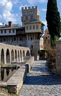 Stavronikita Monastery, Mount Athos, Greece Mykonos, The Holy Mountain, Macedonia Greece, Europe, Travel Pictures, Places To See, Cathedral, Travel Photography, Beautiful Places