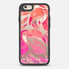 Toucans – Pink Ombré on Transparent - New Standard Case in Clear and Clear by Cat Coquillette | @casetify