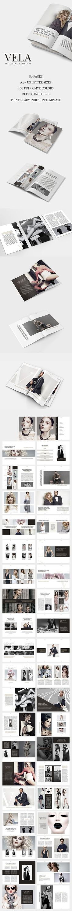 Vela Magazine is an elegant, simple and impressive template for InDesign. It is prepared with a strong fashion theme but thanks to its multi-functionality and easily editable structure you can use Vela Magazine Template for any field you like. Created by @SlideStation on @Creativemarket #magazine #template #fashion #vertical