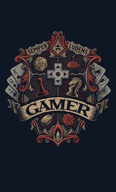 Shop Gamer Crest rpg t-shirts designed by CoryFreemanDesign as well as other rpg merchandise at TeePublic. Gaming Wallpapers, Animes Wallpapers, Arte Obscura, Video Game Art, Dungeons And Dragons, Tattoo Inspiration, Graphic Art, Nerdy, Cool Art