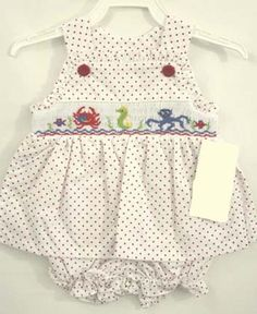 412407-AA068-I129- Baby Sunsuit - Baby Girl Sunsuit - Baby Clothes - Beach Clothing - Sun Dress - Baby Sun Dress - Baby Girl Clothes - Smock