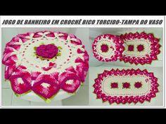 Jogo de Banheiro em Crochê Bico Torcido-Tampa do Vaso - YouTube