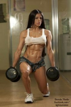 motivational pic ...not the all out boobies, but muscly is hot!