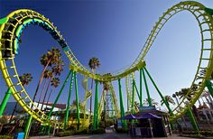 Boomerang roller coaster at Knott's Berry Farm theme park in Southern California. #knotts #rollercoaster