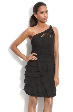 Dalia MacPhee Tiered Chiffon One Shoulder Dress | Nordstrom - StyleSays
