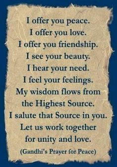 A prayer for the people I've had less than positive encounters with... namaste.