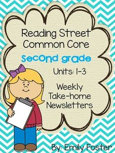 These are weekly newsletters for Units 1, 2, and 3 (18 single-page newsletters which includes the review weeks) for Reading Street Common Core edition for second grade.  These newsletters list the reading skills, amazing words, high frequency words, selection vocabulary words, and spelling words for each week.