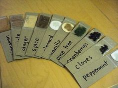 How to make your own scented sensory cards by A Little Learning for Two. The original post is holiday themed, but with a spice cabinet at your disposal, the possibilities are endless! Pinned by SPD Blogger Network. For more sensory-related pins, see http://pinterst.com/spdbn
