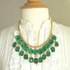 Emerald. State my necklace Iudt say not to found of them but this is statement meets different