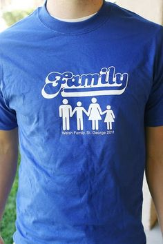 A t-shirt commemorating your family reunion is a great way to bring back memories. #familyreunions