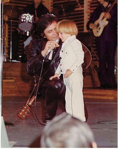 Johnny Cash and his son