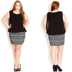 Brand new in original packaging! Aztec bandage dress! NWT! City Chic Dresses