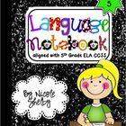 Grade Interactive Reading Notebook (aligned with Common Core) 5th Grade Ela, 5th Grade Writing, 5th Grade Classroom, 5th Grade Reading, Interactive Journals, Math Journals, Writing Strategies, Writing Ideas, English Language Arts