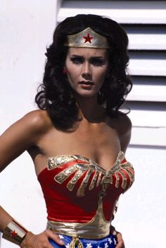 This is who I wanted to be when I grew up,Wonder Woman. And I am just in a totally different way. She was my hero!