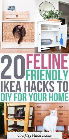 Ikea Hacks For Cats, Cat Hacks, Ikea For Cats, Cat Diys, Ikea Cat, Cat Apartment, Cat Entertainment, Pet Furniture, Furniture Ideas