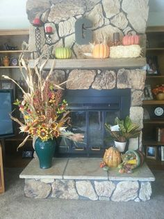 Fall Harvest fireplace