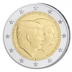 Niederlande 2 Euro-Gedenkmünze 2014 – Doppelportrait