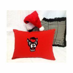 It's looking like a Wolfpack Christmas at AHA Designs!  #ahadesigns #custompillows #gopack #wolfpackchristmas