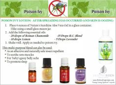 Young Living Essential Oils: Poison Ivy  Contact me to order yours or learn more about Young Living visit my site for more info www.OilLovingGirl.com   Distributor #1837948