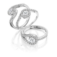 Diamond #engagement #rings by Brown & Newirth