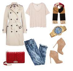 1 by shkolashopinga on Polyvore featuring polyvore fashion style Burberry J.Crew Gianvito Rossi Rebecca Minkoff bürgi clothing