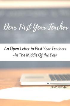 Dear First Year Teac