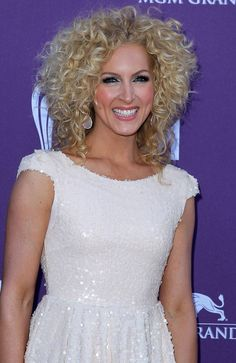 Kimberly Shlapman from Little Big Town -- she's beautiful and curly.