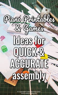 How I put all these piano teaching games together...without losing my marbles! https://colourfulkeys.ie/i-print-trim-laminate-assemble-piano-teaching-games/