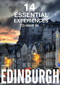 14 Best Things To See In Edinburgh 14 Essential Experiences You Have To Have In Edinburgh – Hand Luggage Only – Travel, Food &… Scotland Vacation, Scotland Travel, Ireland Travel, Scotland Trip, Scotland Food, Castle Scotland, Oh The Places You'll Go, Places To Travel, Travel Destinations