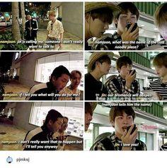 """I love you"" Kim Seokjin to freaking Kim Namjoon, im not ok.- ""I love you"" Kim Seokjin to freaking Kim Namjoon, im not okay - Bts Namjoon, Bts Bangtan Boy, Bts Boys, Jung Hoseok, Taehyung, Bts Jin, Namjin, K Pop, About Bts"