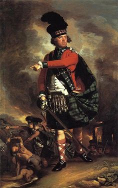 """Portrait of Hugh Montgomerie, Earl of Eglinton"" by John Singleton Copley, born on this day. Wearing the uniform he wore with the Highlanders during the French & Indian War in America. American Revolutionary War, American War, American History, John Hancock, Grand Tour, Tartan, St Martin, L'art Du Portrait, Dibujo"