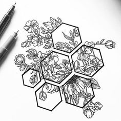 Drawing Flowers & Mandala in Ink – Art – # … – Tattoo Designs Tattoo Design Drawings, Henna Tattoo Designs, Pencil Art Drawings, Art Drawings Sketches, Tattoo Sketches, Tattoo Ideas, Sketch Drawing, Drawing With Pen, Drawing Tattoos