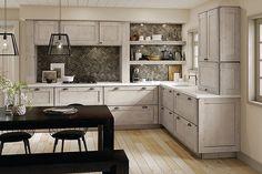 Maple Kitchen in Aged Concrete - KraftMaid