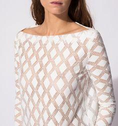 Maje Robe pour femme en laine ??cru