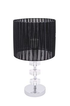 "This decorative lamp set includes a modern metal base with stacked acrylic block detail and a cylindrical ribbon lamp shade.<BR><BR>Mr Price Home is NRCS (SABS) compliant.<BR><div class=""pdpDescContent""><BR /><b class=""pdpDesc"">Dimensions:</b><BR />L18xW18xH47.5 cm</div>"