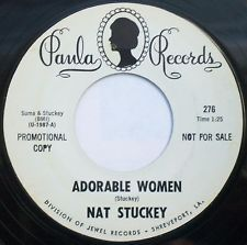 "NAT STUCKEY Adorable Women / I Knew Her When  7"" Promo 45rpm Paula Records 1967"