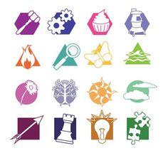 Myers-Briggs 16 types: ESTJ -gavel ISTJ -gears ESFJ -cupcake ISFJ -stove ESTP -fire ISTP -magnifying glass ESFP -butterfly ISFP -pond ENFJ-flower INFJ-tree ENFP-sun INFP-cloud ENTJ -arrow INTJ -chess piece ENTP -lightbulb INTP -puzzle pieces...Neat composure #Nerd #Personalities #INTJ