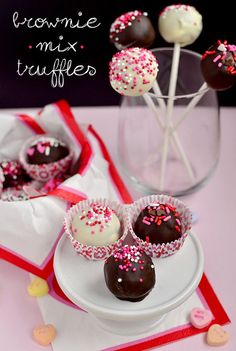 Brownie Mix Truffles are festive, sweet, and super easy. Make and package then give to your loved ones! | iowagirleats.com
